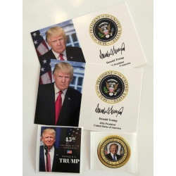 """2 Decals 2 President Donald Trump 4/""""x6/""""..on Card Stock..Photo Portrait Picture"""